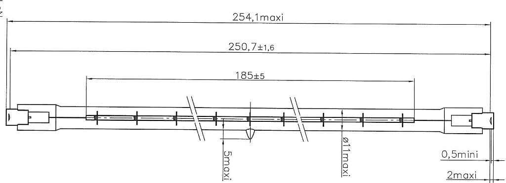 Innergize infraroodlamp 1100W 15040R schema